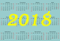 Calendário 2018 Anual Mensal e Feriados