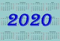 Calendário Anula com Feriados 2020